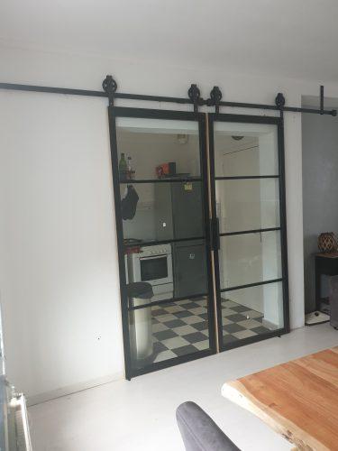 Dubbel schuifdeursysteem (op één rail) photo review