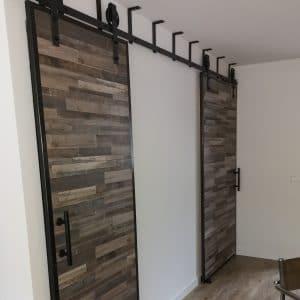 Dubbele schuifdeursysteem plafond