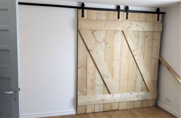 Schuifdeursysteem dubbel - houten deuren