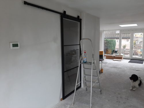 Stalen schuifdeur 3 vlakken (HELDER GLAS) + Systeem photo review