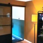 Stalen schuifdeur met kickplate (HELDER GLAS) + Systeem photo review