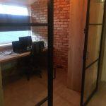 Dubbele stalen schuifdeur 3 vlakken (HELDER GLAS) + systeem photo review