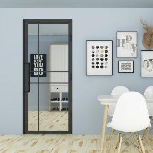 Stalen binnendeur Luxury met kozijn