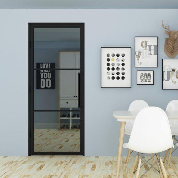 Stalen binnendeur met Rookglas